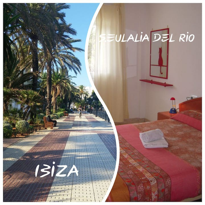Quiet Beautiful Double Room S.Eulalia 5min beach