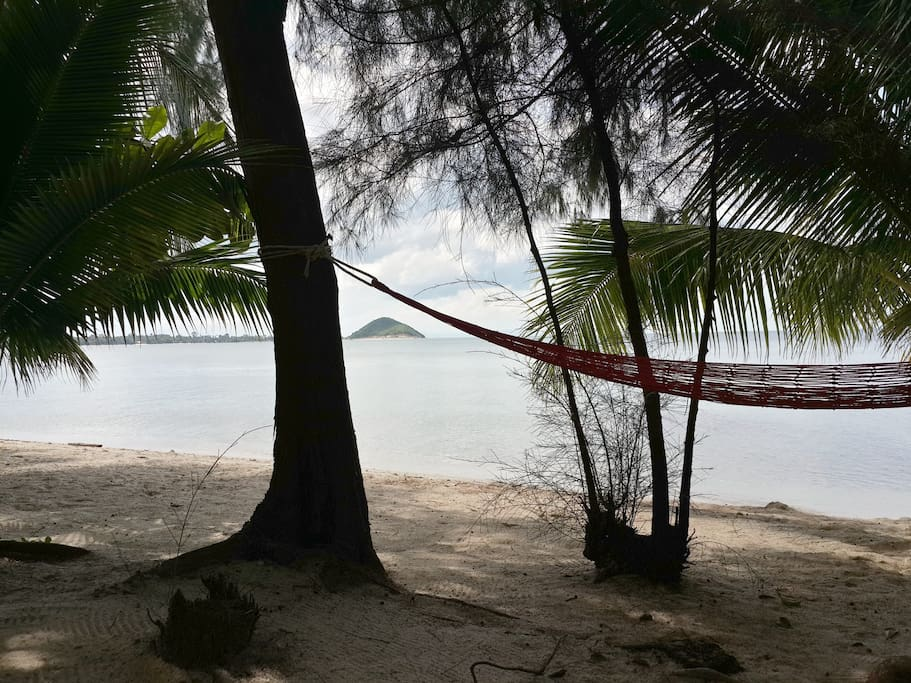 Our secluded private beach.