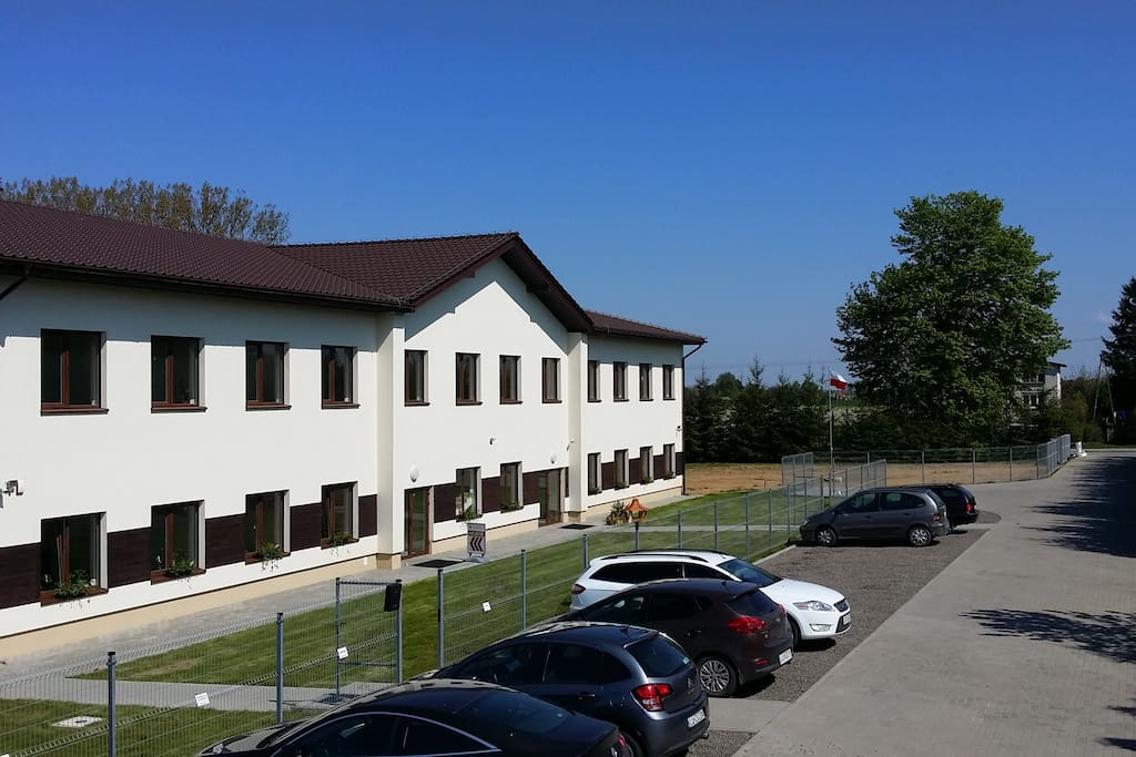 InCUBO Building and Parking Area