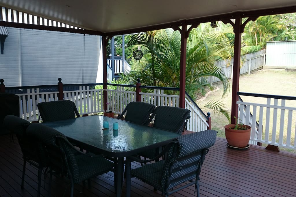 Large deck that has seen many good get togethers!