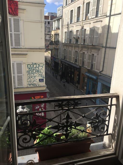 Vue sur les rues Lemon et Desnoyez / View on Lemon and Desnoyez streets