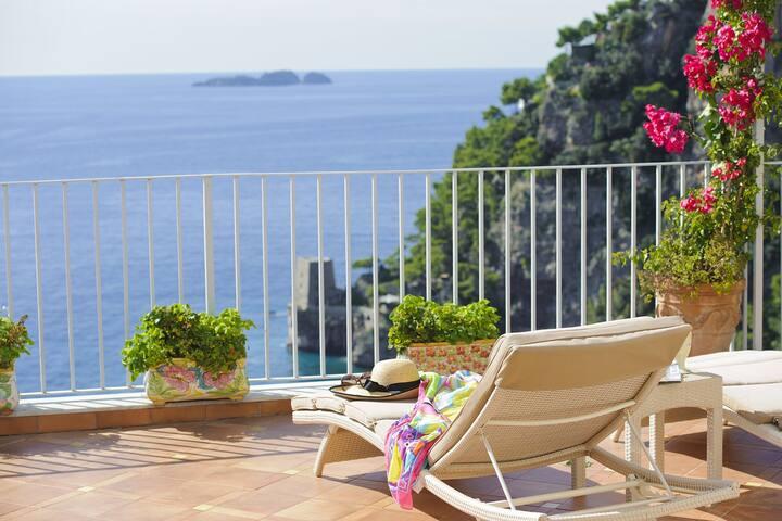 Villa Roby in Positano centre close to the beach