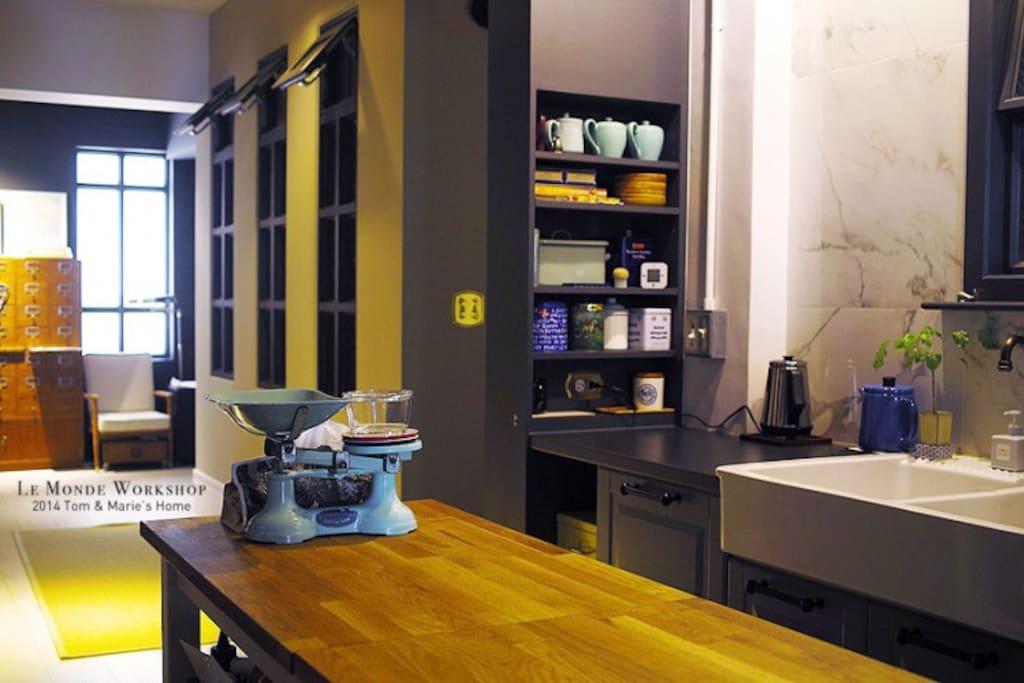 廚房,提供早餐&茶。不提供烹飪食物。