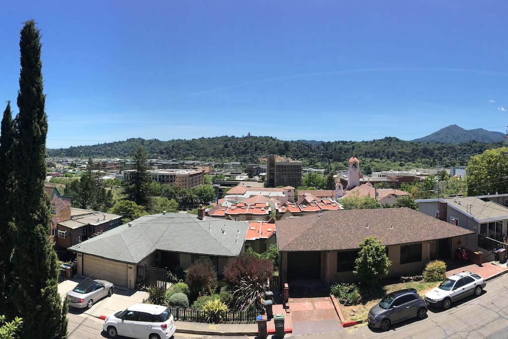 Sweeping views of San Rafael from your balcony.
