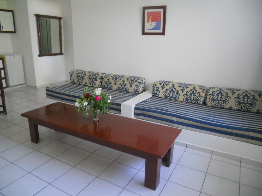 More than two guests? No problem, each apartment has two bed sofas available. Save money and buy more souvenirs!