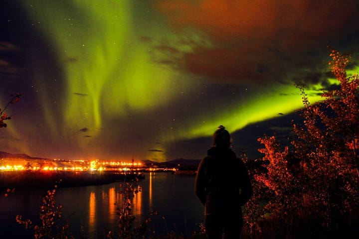 Northern Lights Viewing from the House