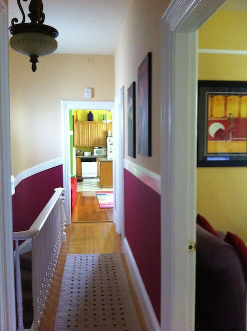 The shotgun hallway.  Typical of a victorian