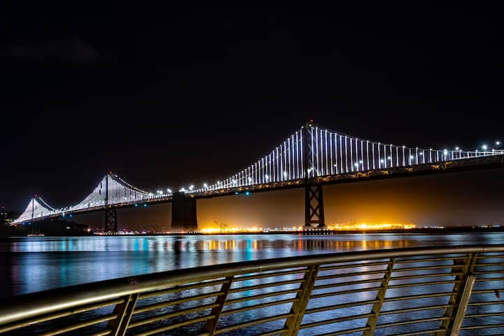 See the incredible Bay Bridge LED lights