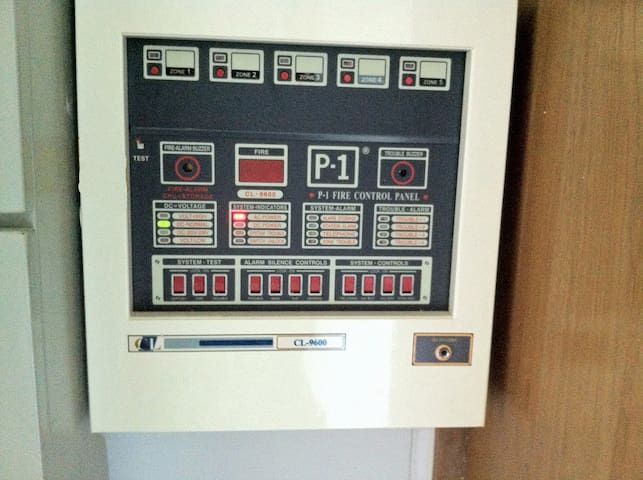 Alarm and safety system in the building