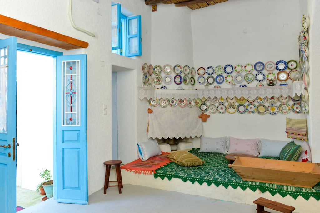 Traditional house. Archangelos Rhodes. The sofa.