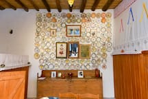 """Plateloticho"" (plate wall). Traditional house. Archangelos Rhodes, nostos-homes. A ""home - Treasure of local Tradition"""