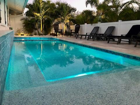 Beach House w/Private Pool & Hot Tub by Bean Point