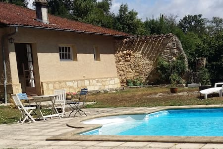 Poolside Gite/cottage in Gascony chateau grounds