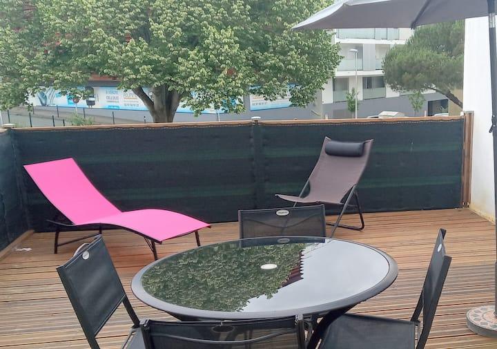 T3  Lorient centre de 52 m 2 avec grande terrasse