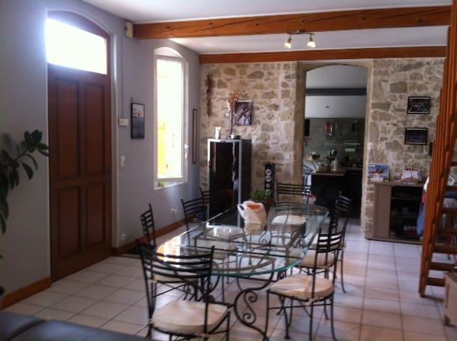 Chambre dans maison tout confort avec piscine - Auch - Dom