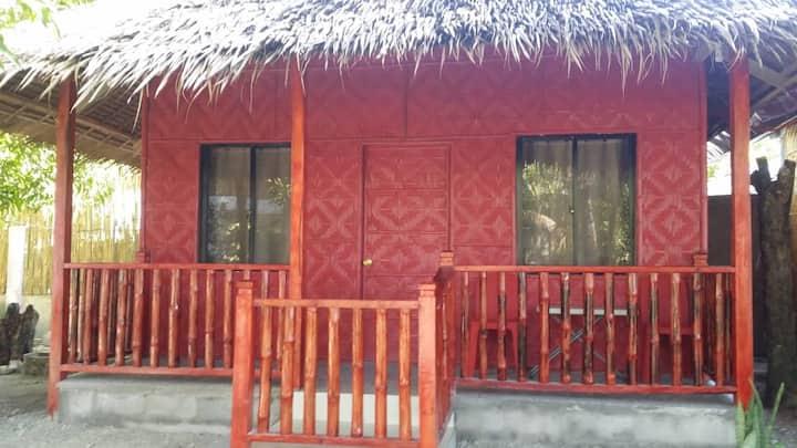 The Red Beach Hut