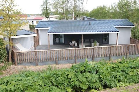 Lodge Zélande avec sauna pour FAMILLES, à 50m/mer
