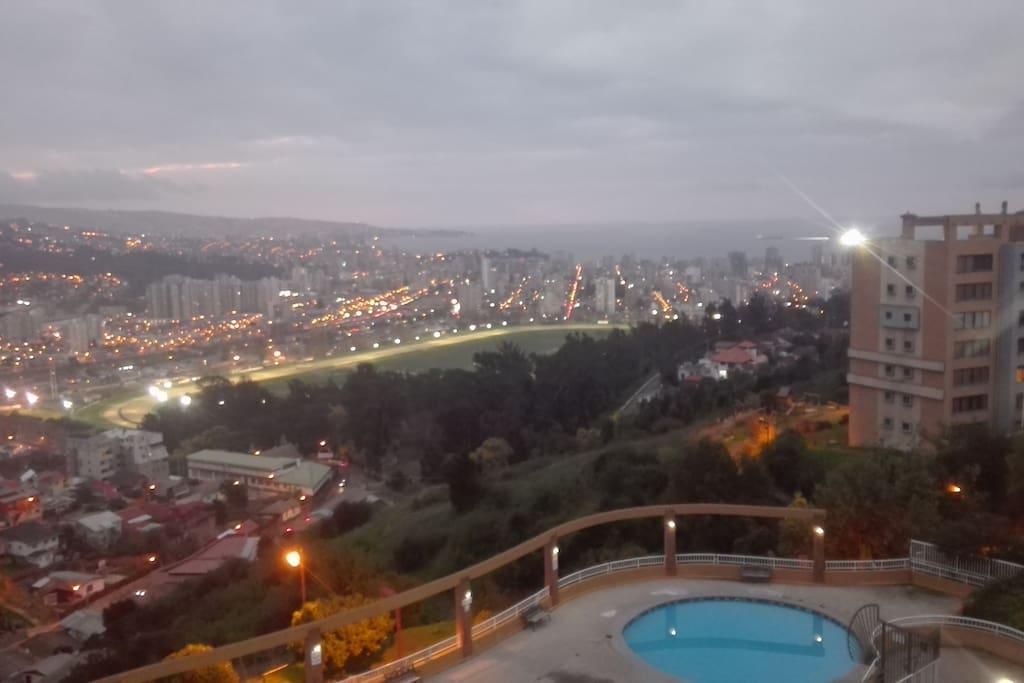 Vista Terraza Atardecer