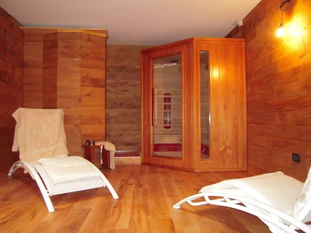 In villa con sauna e palestra - Bardonecchia - Departamento