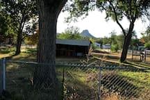 Backyard view of Thumb Butte