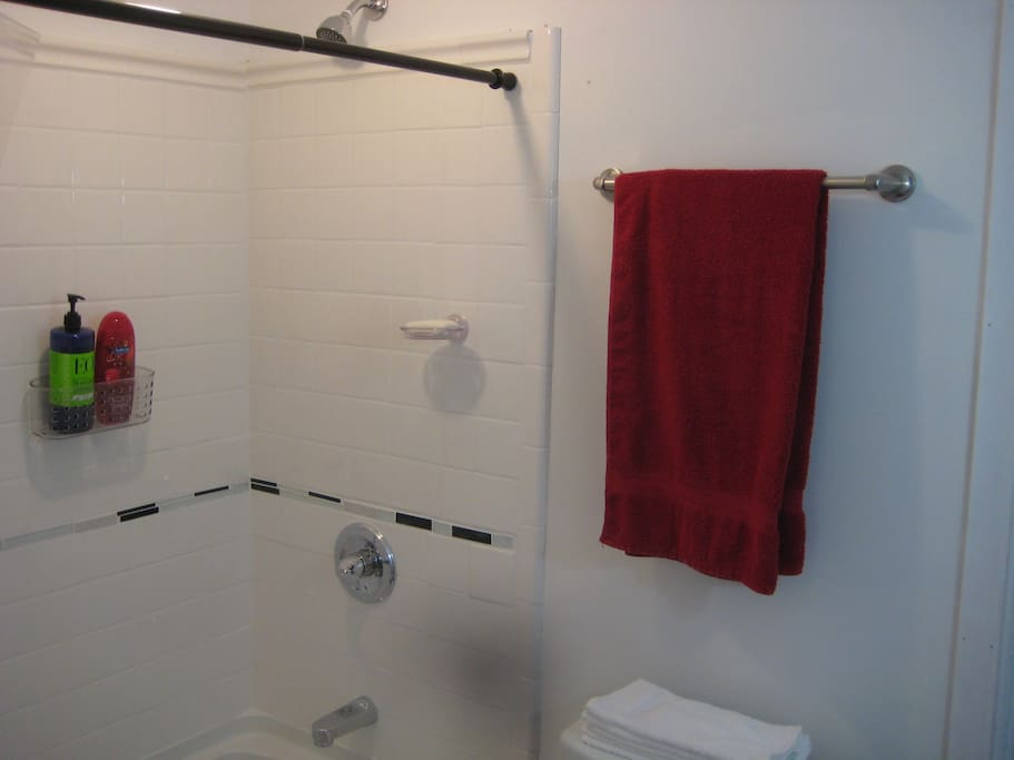 Completely new Bathroom with Soaking tub to relax in