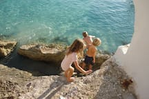 The climb down to Old Fort Bay is rugged, but worth it. I do it with my three children nearly every day in the summer.
