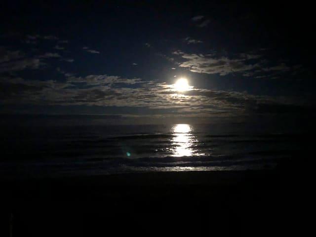 Moon lit views.
