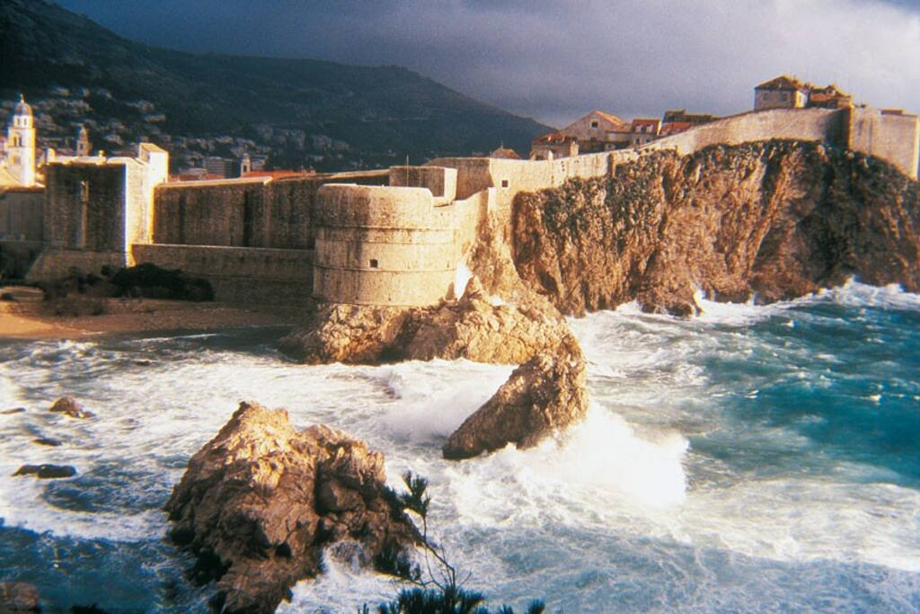 Antique city Dubrovnik - jewel of the Mediterranean. 1.30 minut drive