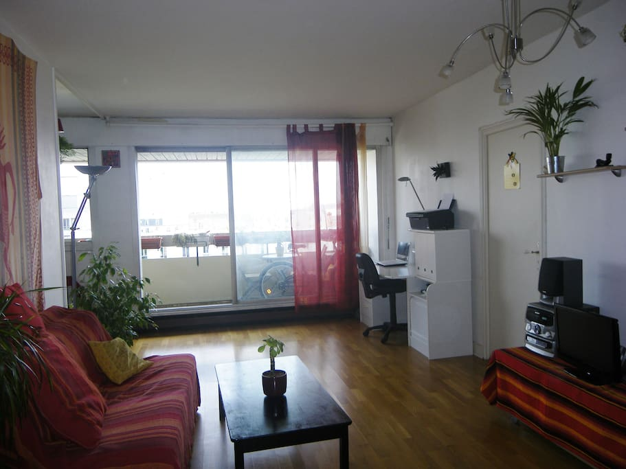 salon + balcon