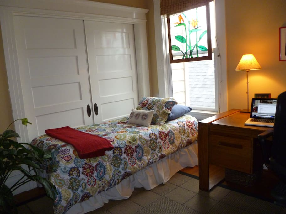Guestroom with closed doors