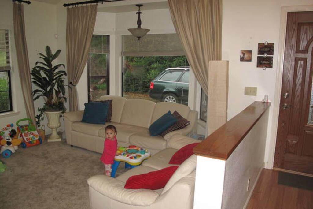 Front entry, and a picture of our daughter when she was about a year old