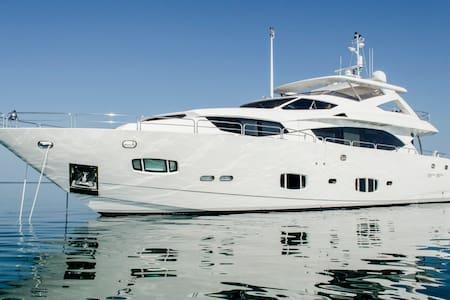 Modern 100 foot luxury yacht