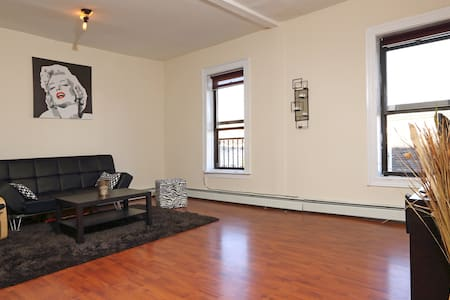 Spacious room in Brooklyn.