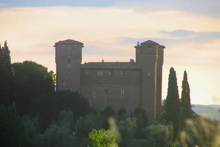 A tower in a real medieval castle! - Siena