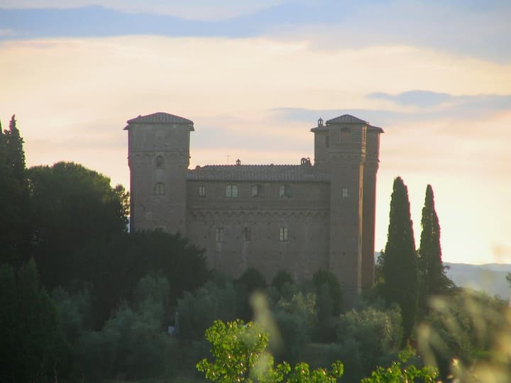 A tower in a real medieval castle!