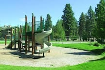 There's a playground for the littles onsite at Running-Y Ranch.