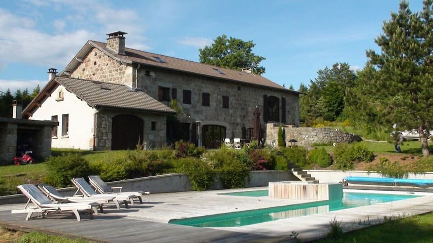Demeure de 1850  piscine chauffée - Le Chambon-sur-Lignon - Huis