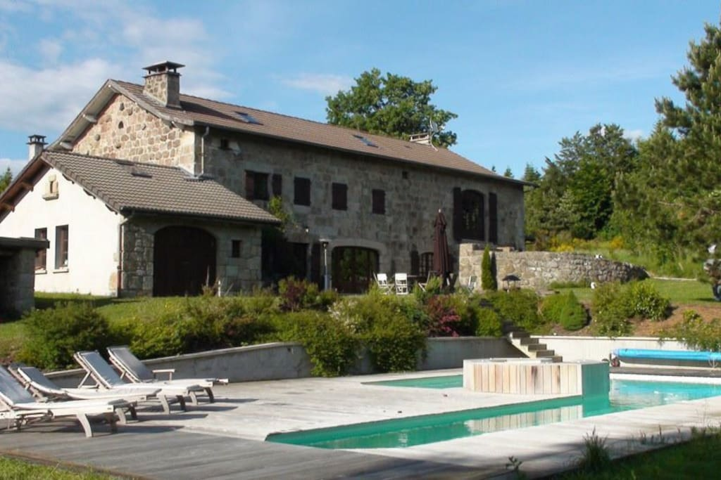 demeure de 1850 piscine chauff e houses for rent in le chambon sur lignon auvergne france. Black Bedroom Furniture Sets. Home Design Ideas