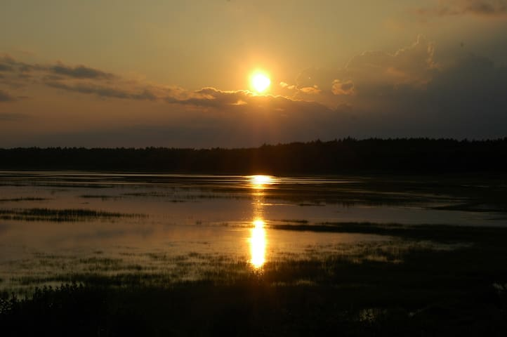 House on marsh, sunsets, wild life - Marion
