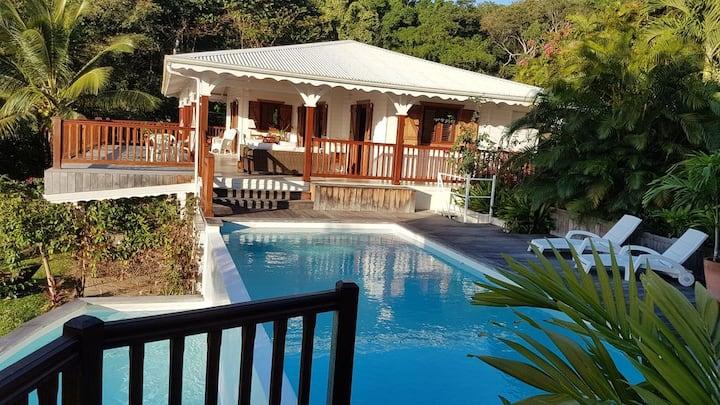 Villa de charme avec piscine et vue mer à Deshaies