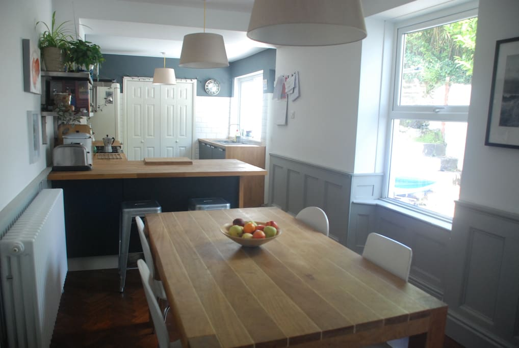 Great space for hanging out together, cooking and eating
