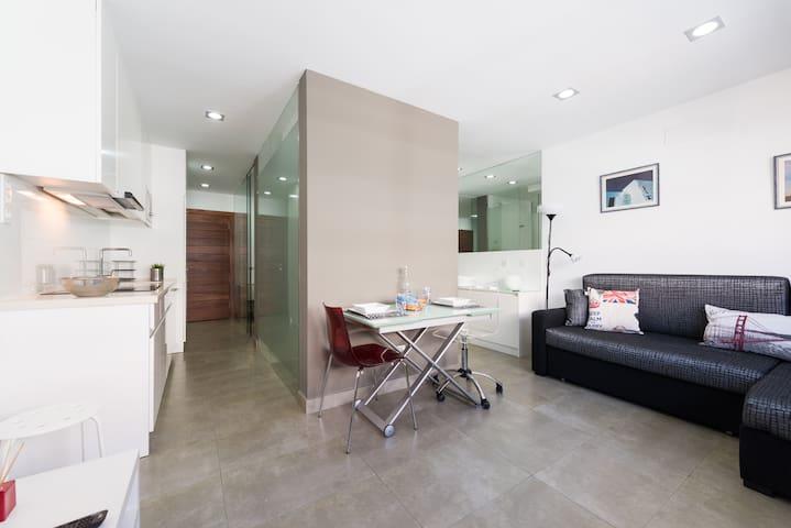 Modern apartment at Las Canteras city beach.
