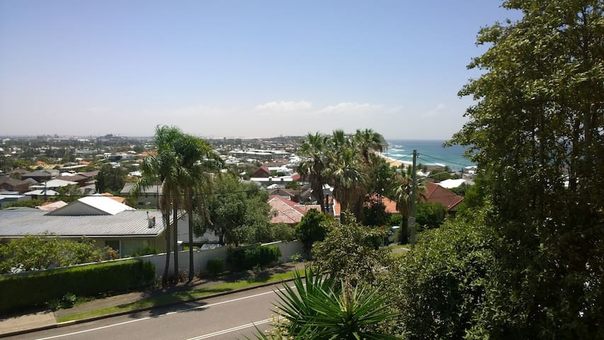 Beach and city view, entire place - Merewether - Appartement