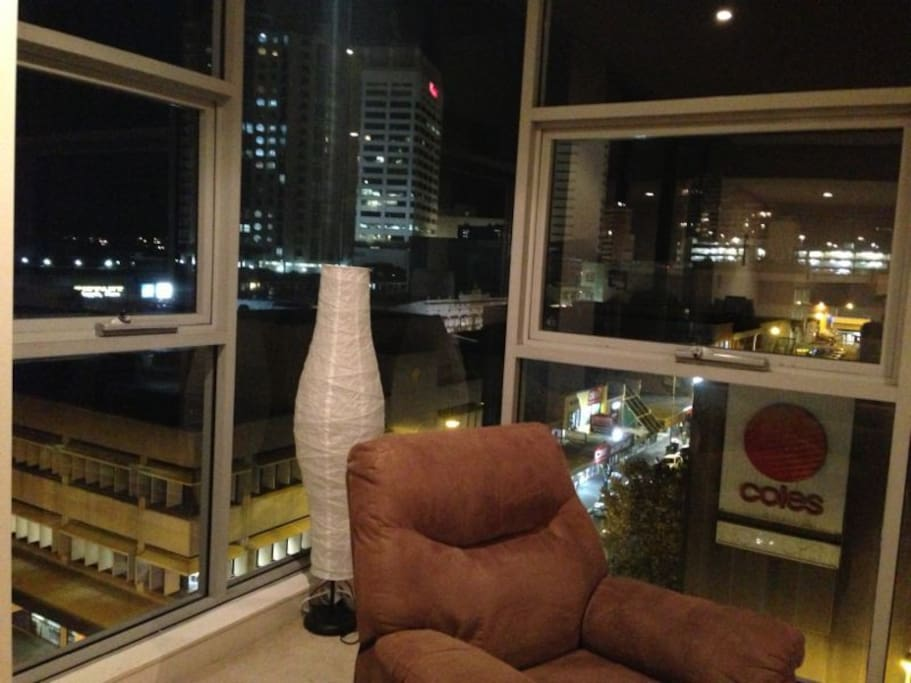 View at night from front room