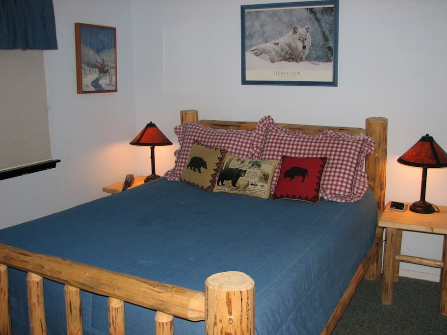 Queen bed downstairs