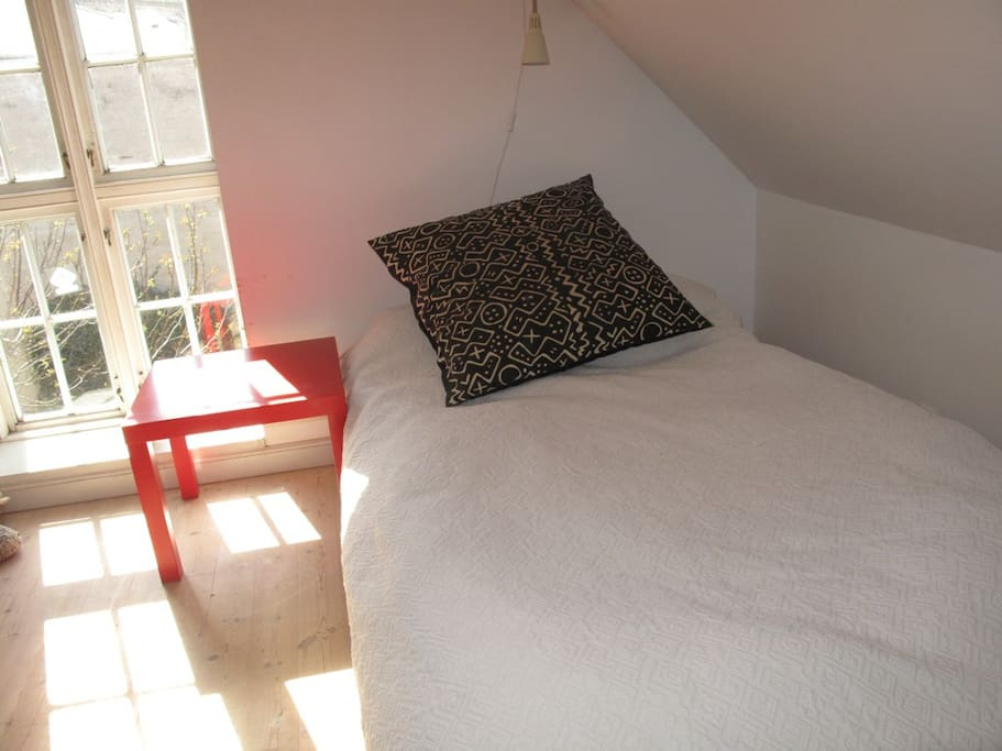 Bedroom with small double bed