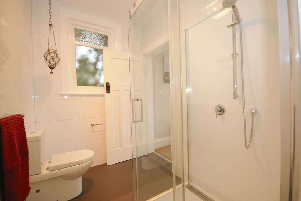 The en-suite with walk-in shower
