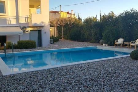 Luxurius groundfloor with pool near the beach. - Kalivia Thorikou - Apartmen
