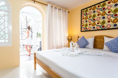 King size bed with two bunk beds,Sea view balcony,Air-condition,LCD flat-screen TV,Safety box, Kettle and ETC.
