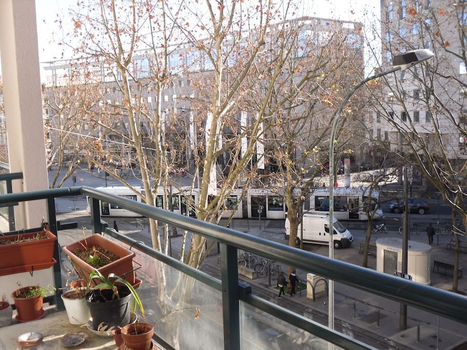 view from the balcony (tramay, subway...)